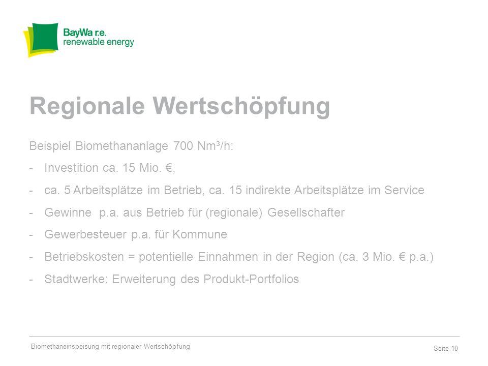 Seite 11 Gewerbegebiete werden zu Energie-Gebieten Perspektive: virtuelle Kraftwerke (PV, Wind, Biomethan) Regionale Wertschöpfung Region Gewerbe steuer Arbeits- plätze Erlöse / Betriebs- ausgaben erweiterte Produkt- palette Energie speicher Biomethaneinspeisung mit regionaler Wertschöpfung