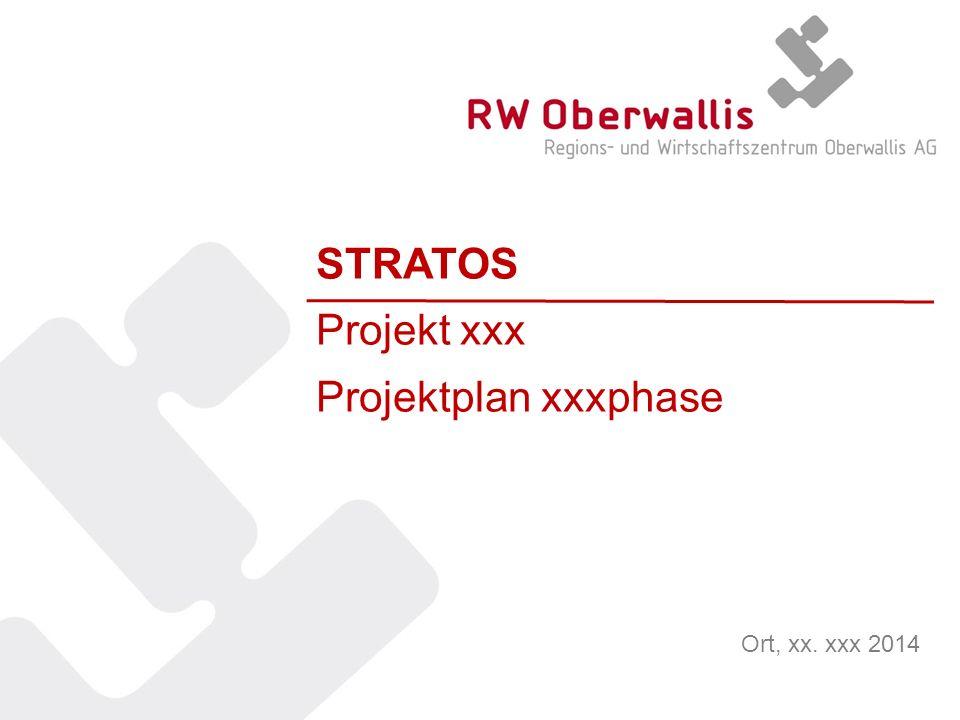 STRATOS Projekt xxx Projektplan xxxphase Ort, xx. xxx 2014