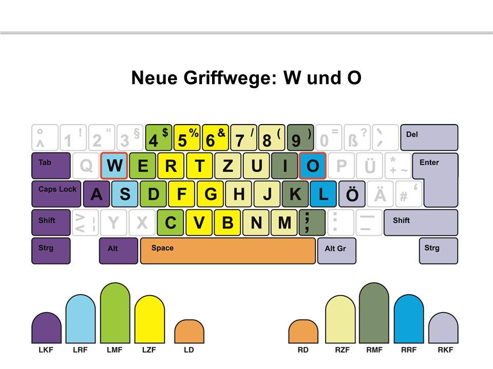 Neue Griffwege: W und O