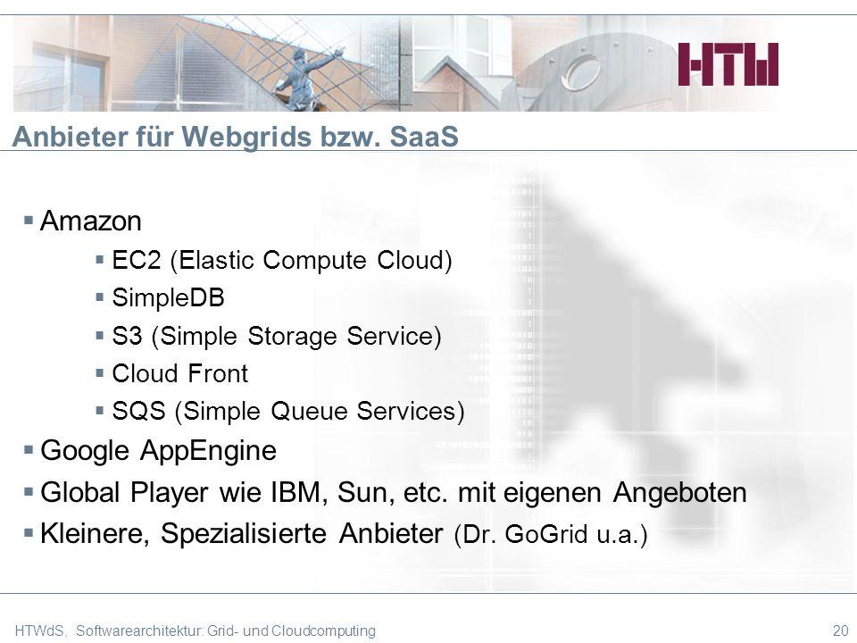 Anbieter für Webgrids bzw.