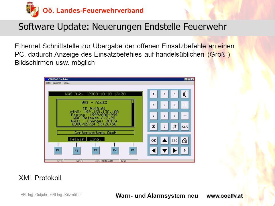 Warn- und Alarmsystem neu Oö.Landes-Feuerwehrverband HBI Ing.