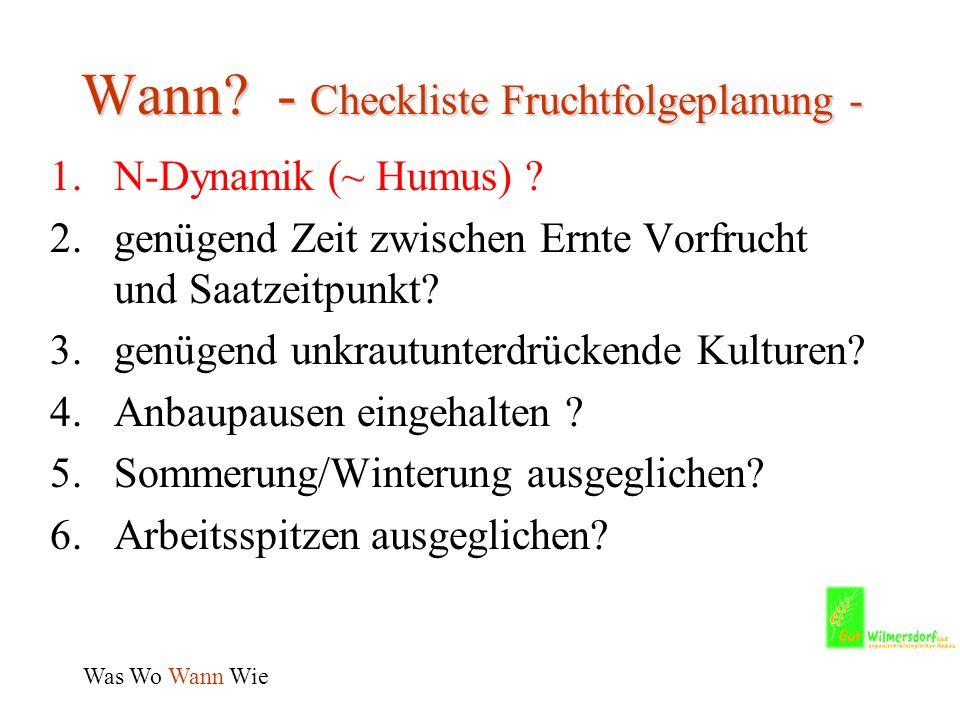 Wann.- Checkliste Fruchtfolgeplanung - 1.N-Dynamik (~ Humus) .