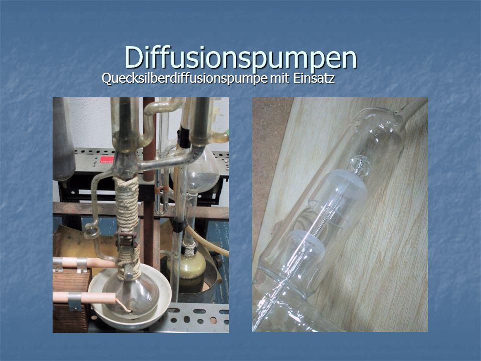 Diffusionspumpen Quecksilberdiffusionspumpe mit Einsatz