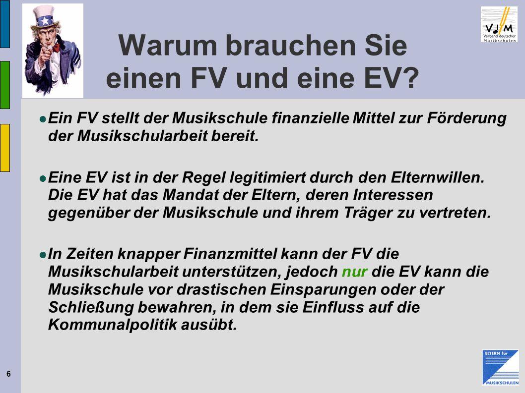6 Warum brauchen Sie einen FV und eine EV.