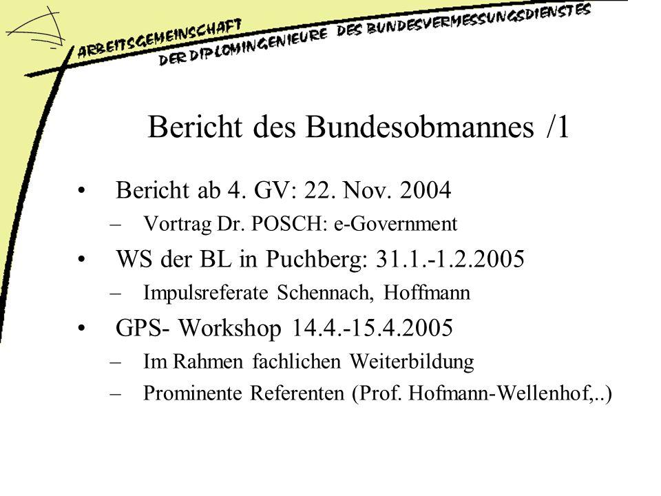 Bericht des Bundesobmannes /1 Bericht ab 4.GV: 22.