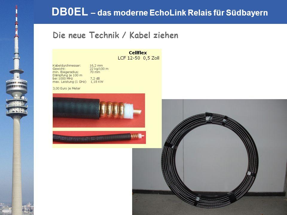 © Rainer Englert - DF2NU DB0EL – das moderne EchoLink Relais für Südbayern Die neue Technik / Kabel ziehen