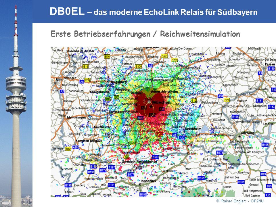 © Rainer Englert - DF2NU DB0EL – das moderne EchoLink Relais für Südbayern Erste Betriebserfahrungen / Reichweitensimulation
