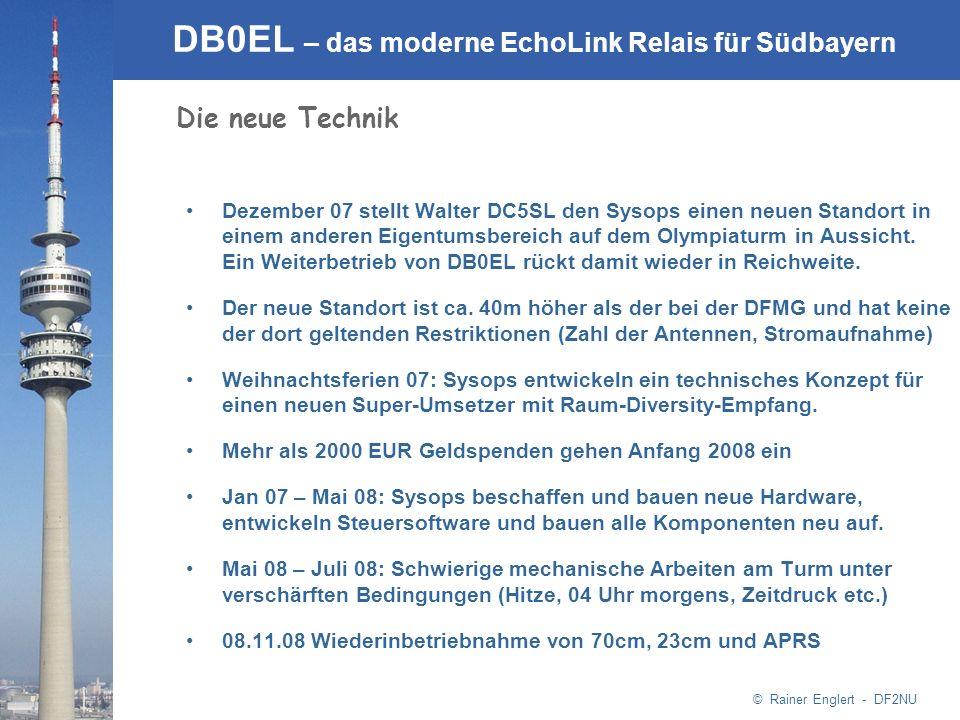 © Rainer Englert - DF2NU DB0EL – das moderne EchoLink Relais für Südbayern Dezember 07 stellt Walter DC5SL den Sysops einen neuen Standort in einem an