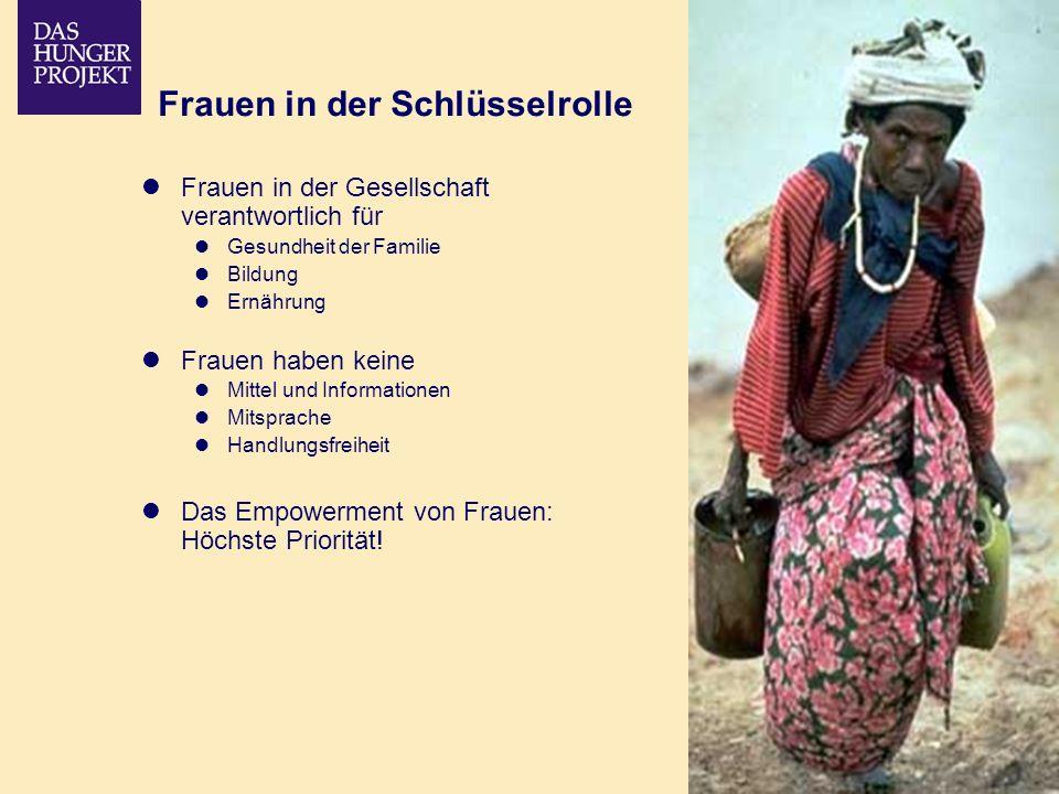 02/09 - 10 Frauen in der Schlüsselrolle Frauen in der Gesellschaft verantwortlich für Gesundheit der Familie Bildung Ernährung Frauen haben keine Mitt