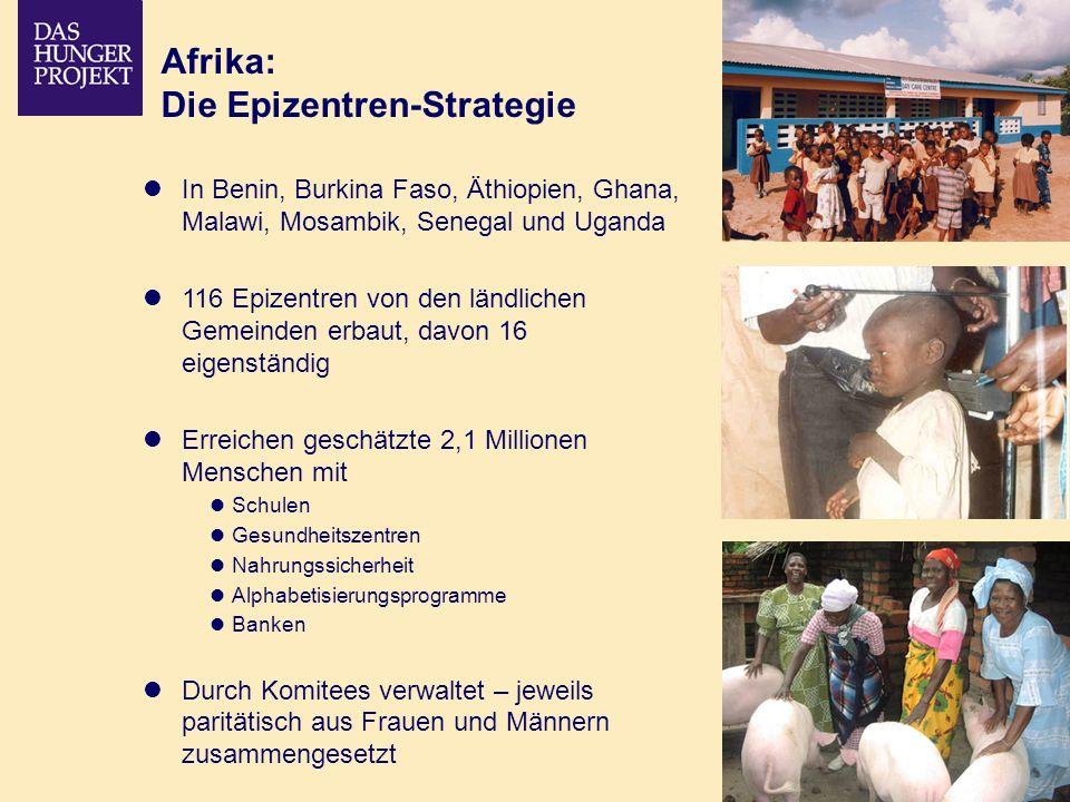 02/09 - 11 Afrika: Die Epizentren-Strategie In Benin, Burkina Faso, Äthiopien, Ghana, Malawi, Mosambik, Senegal und Uganda 116 Epizentren von den länd