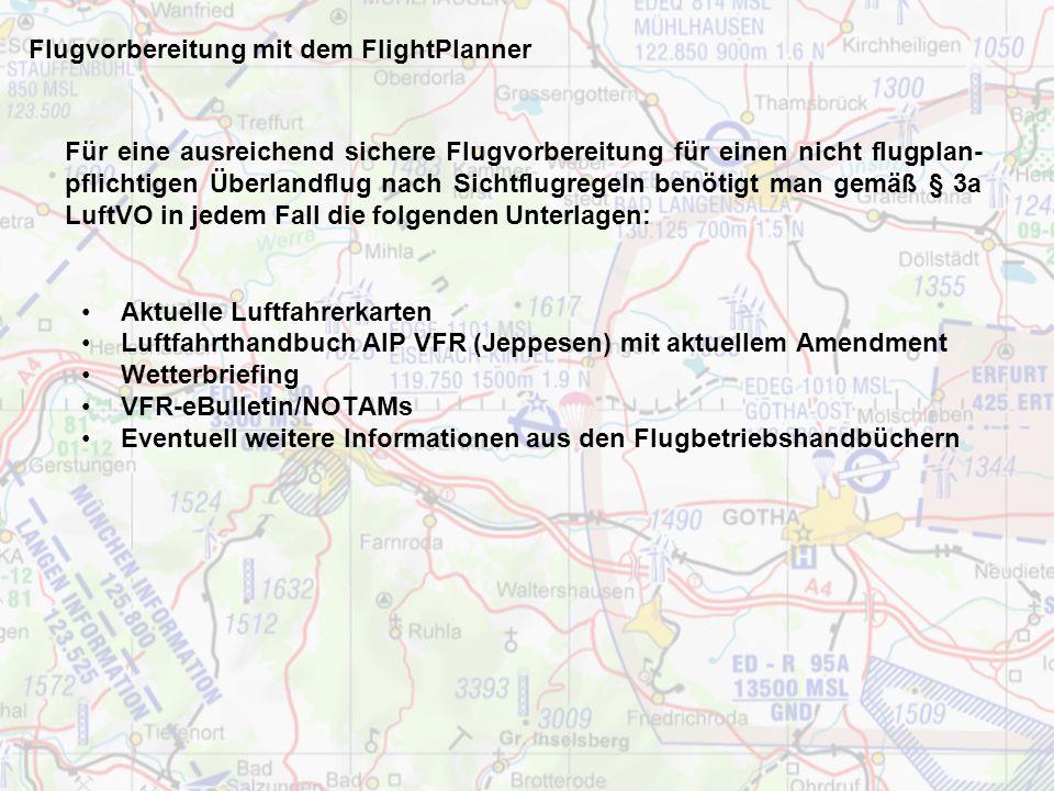 Flugvorbereitung mit dem FlightPlanner Pilotenlizenz Funksprechzeugnis/Language Proficiency