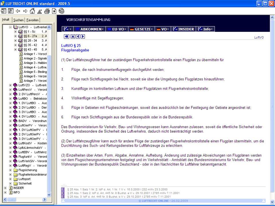Flugvorbereitung mit dem FlightPlanner die Flugwetterinformationen beispielsweise per Internet-Selfbriefing (pc-met) eingeholt werden für die beabsich