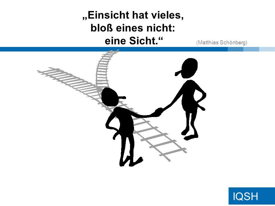 IQSH Einsicht hat vieles, bloß eines nicht: eine Sicht. (Matthias Schönberg)