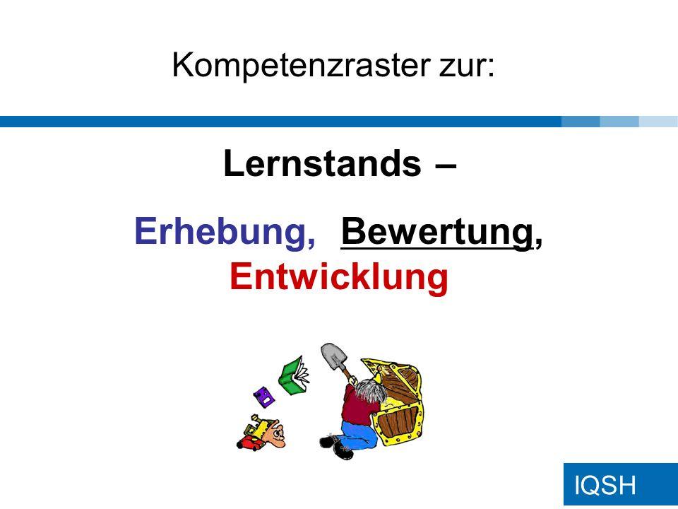 IQSH Lernstands – Erhebung, Bewertung, Entwicklung Kompetenzraster zur: