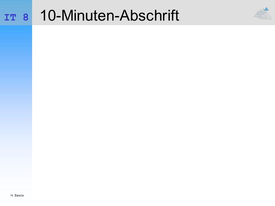H. Beede IT 8 10-Minuten-Abschrift