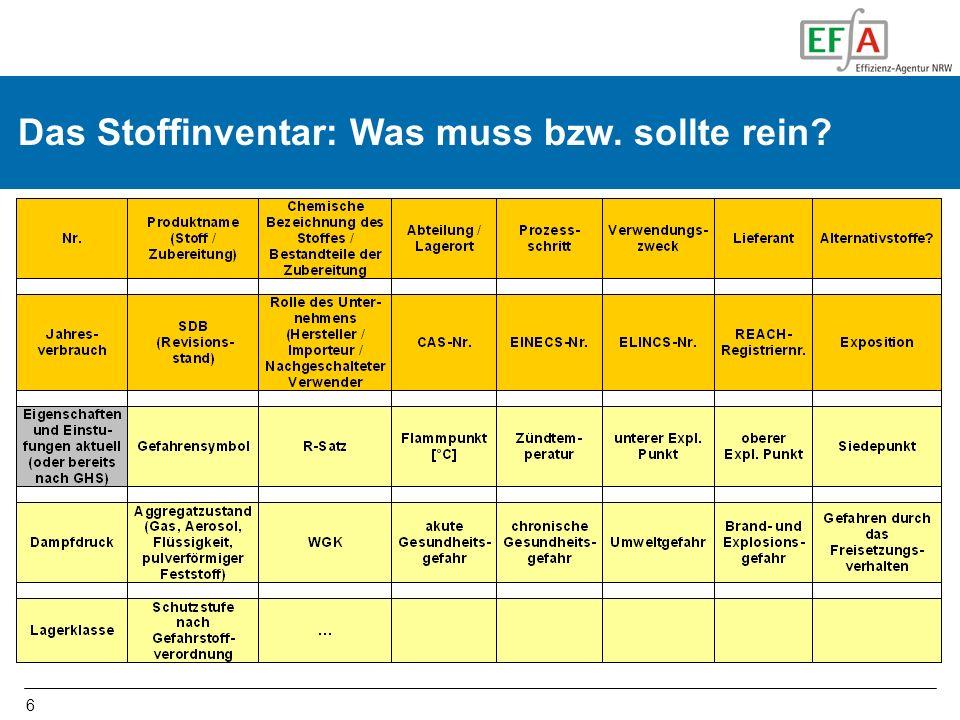 17 Aufwand und Kosten – Erfahrungswerte der EFA ca.