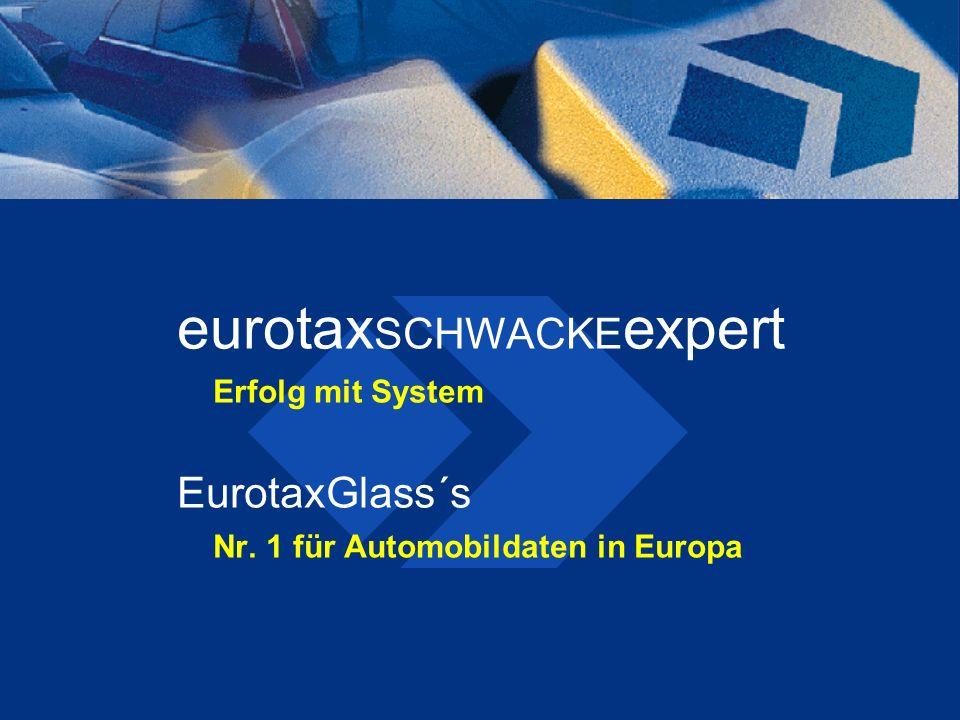 eurotax SCHWACKE expert Erfolg mit System EurotaxGlass´s Nr. 1 für Automobildaten in Europa