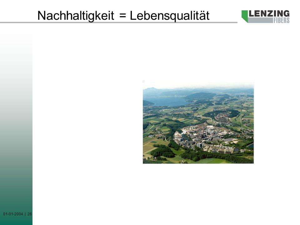 01-01-2004 | 26 Nachhaltigkeit = Lebensqualität