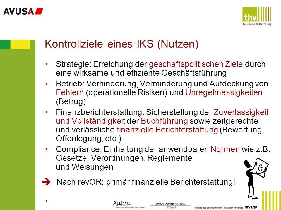 17 Schritt 3: Schlüsselprozesse Heime (Bsp.) Leistungsverrechnung (Debitoren) / Umsatz Kreditoren / Betriebsaufwand / Zahlungswesen Personal- und Lohnwesen Investitionen / Bewertung / Abschreibungen Budgeterstellung / Subventionen