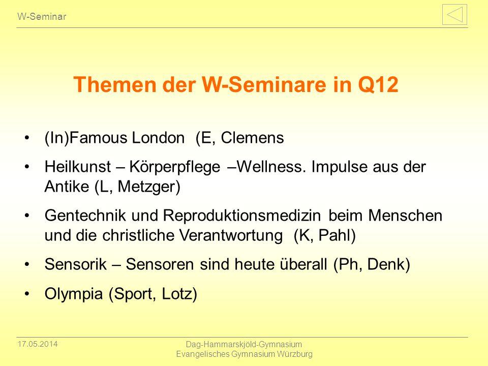 17.05.2014 Dag-Hammarskjöld-Gymnasium Evangelisches Gymnasium Würzburg W-Seminar (In)Famous London (E, Clemens Heilkunst – Körperpflege –Wellness. Imp