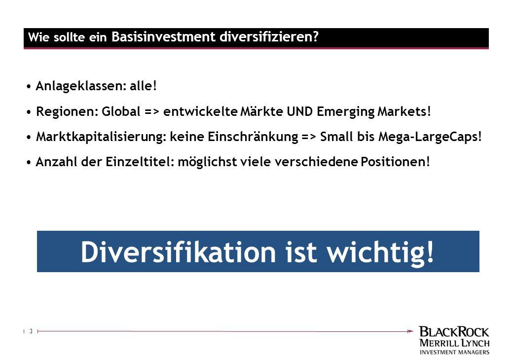 3 Anlageklassen: alle! Regionen: Global => entwickelte Märkte UND Emerging Markets! Marktkapitalisierung: keine Einschränkung => Small bis Mega-LargeC