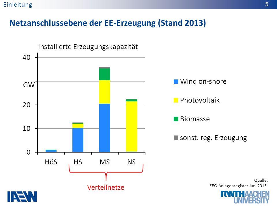 Anzahl der EE-Erzeugungsanlagen (Stand 2013) 6 Quelle: BNetzA-Kraftwerksliste Okt.