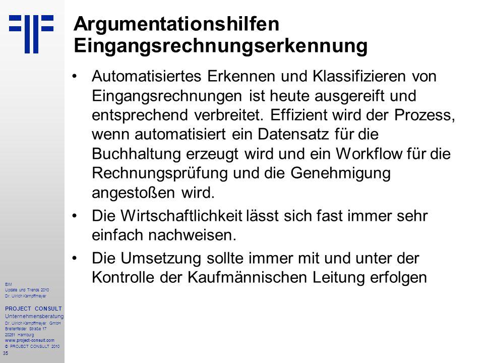 35 EIM Update und Trends 2010 Dr. Ulrich Kampffmeyer PROJECT CONSULT Unternehmensberatung Dr. Ulrich Kampffmeyer GmbH Breitenfelder Straße 17 20251 Ha