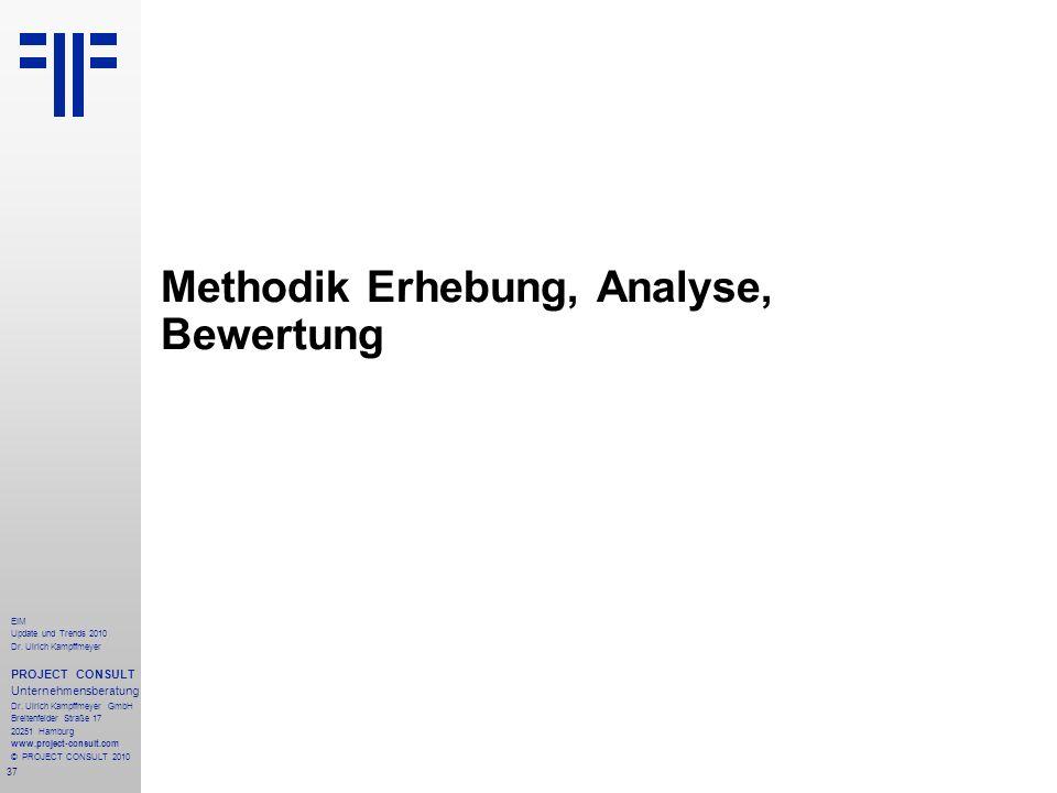 37 EIM Update und Trends 2010 Dr. Ulrich Kampffmeyer PROJECT CONSULT Unternehmensberatung Dr. Ulrich Kampffmeyer GmbH Breitenfelder Straße 17 20251 Ha