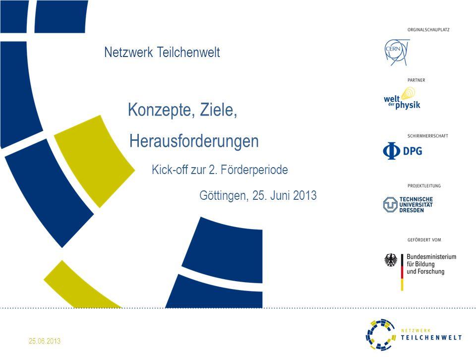 Netzwerk Teilchenwelt Konzepte, Ziele, Herausforderungen Kick-off zur 2.