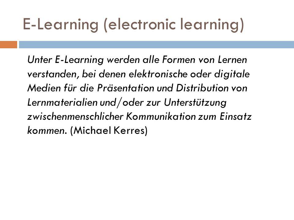 Bedeutung von E-Learning E-Learning mit Eiderenten http://www.youtube.com/watch?v=eJ9fuNBAR5I