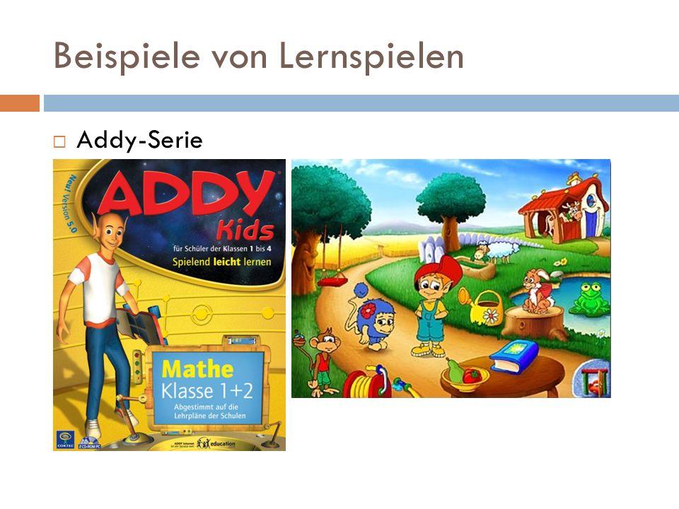 Beispiele von Lernspielen Addy-Serie