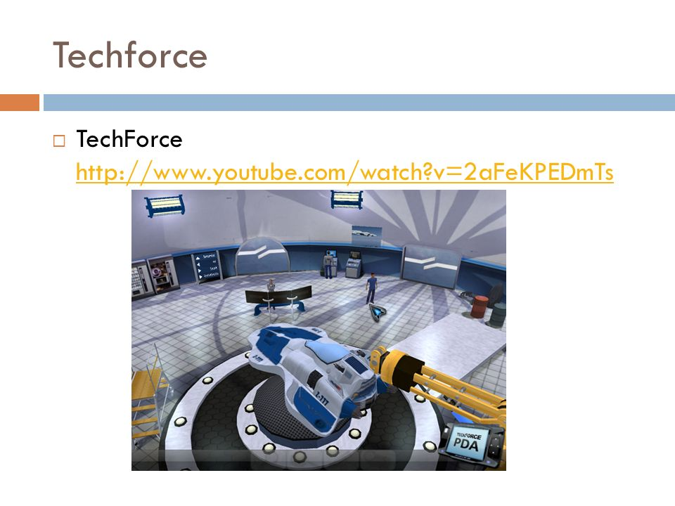 Techforce TechForce http://www.youtube.com/watch?v=2aFeKPEDmTs http://www.youtube.com/watch?v=2aFeKPEDmTs