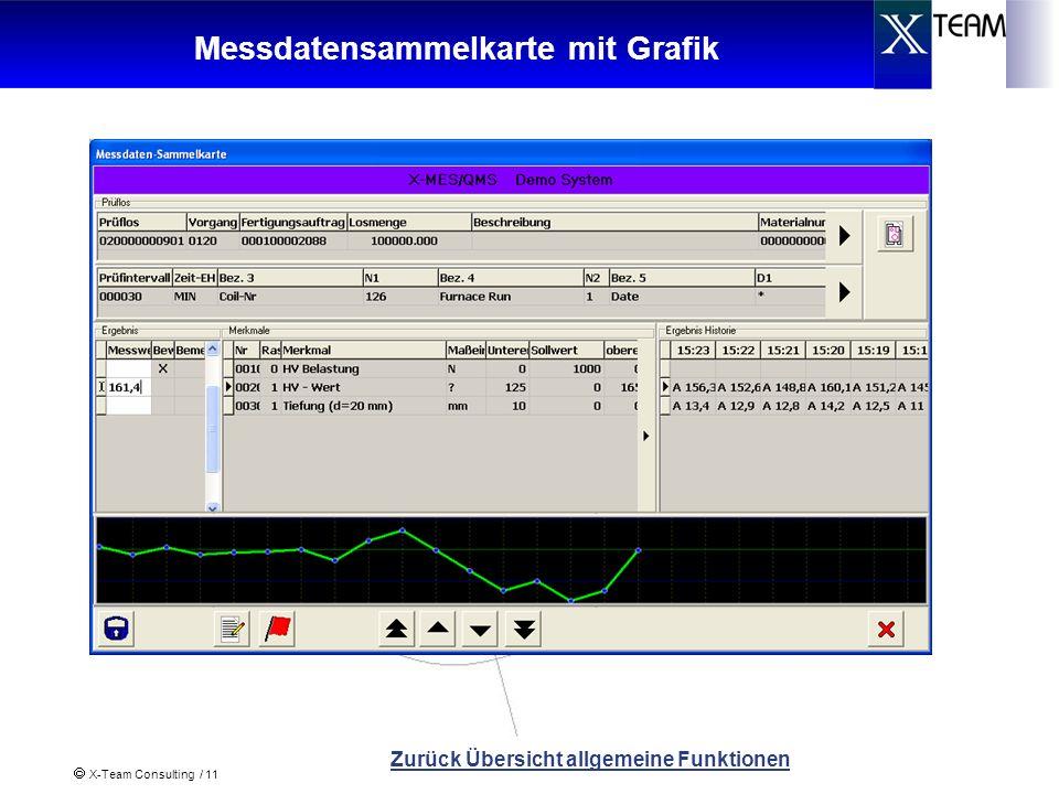 X-Team Consulting / 11 Messdatensammelkarte mit Grafik Zurück Übersicht allgemeine Funktionen
