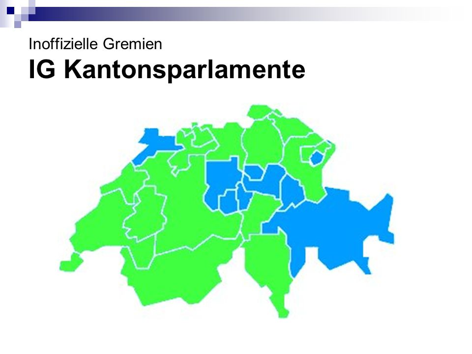 Inoffizielle Gremien IG Kantonsparlamente