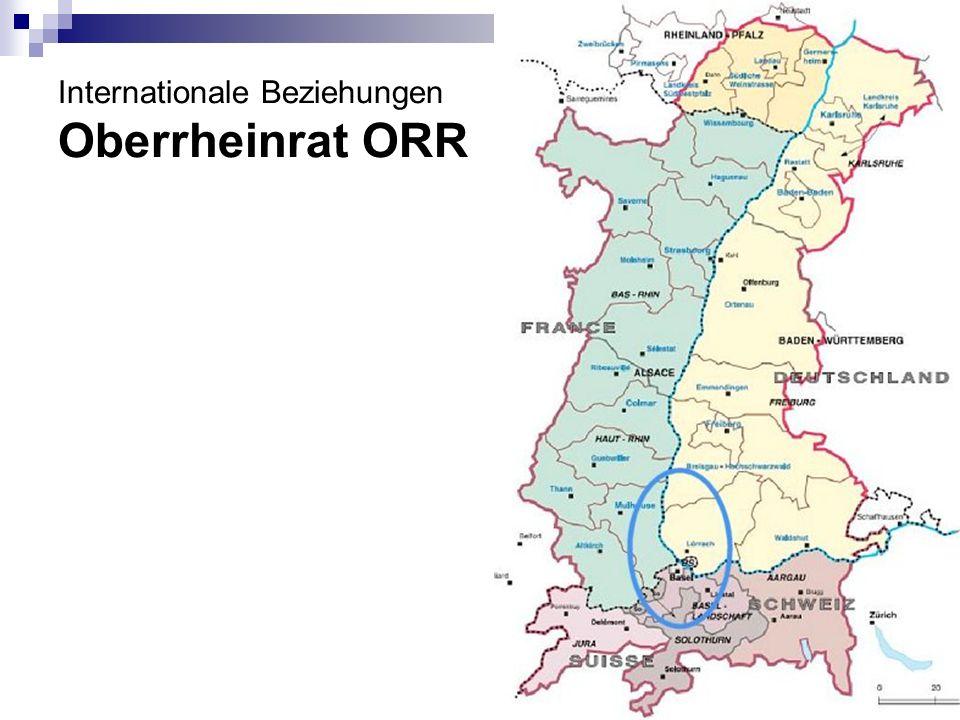 Internationale Beziehungen Oberrheinrat ORR