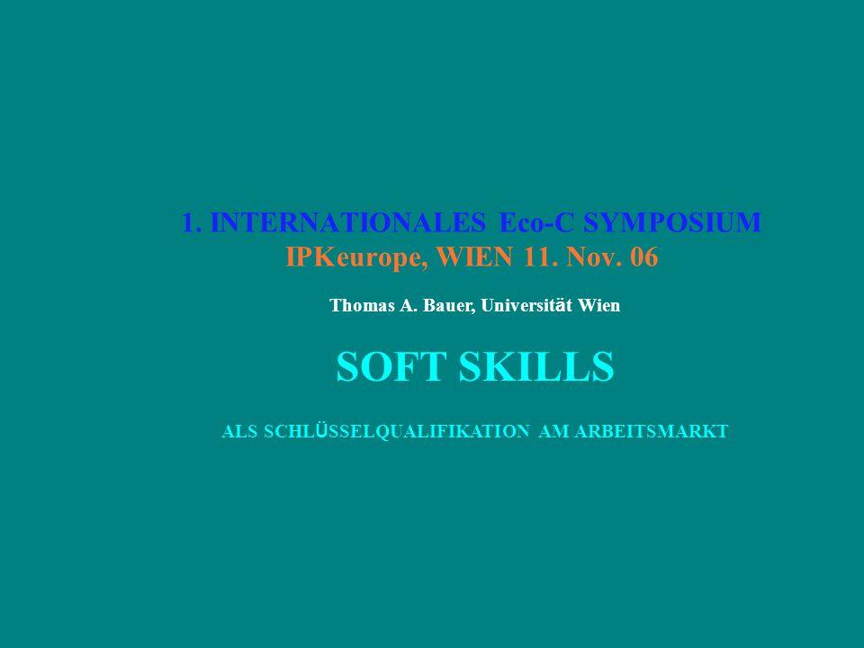 1.INTERNATIONALES Eco-C SYMPOSIUM IPKeurope, WIEN 11.