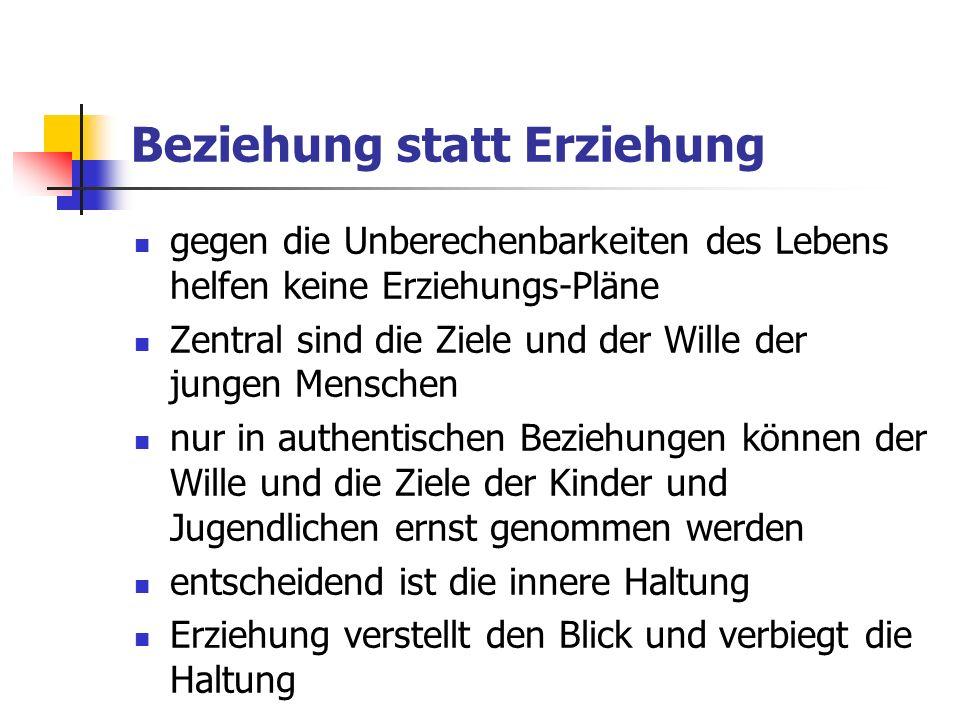 Individualpädagogik als Beziehungspädagogik.
