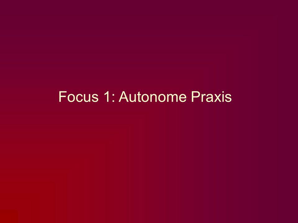 Focus 1: Autonome Praxis