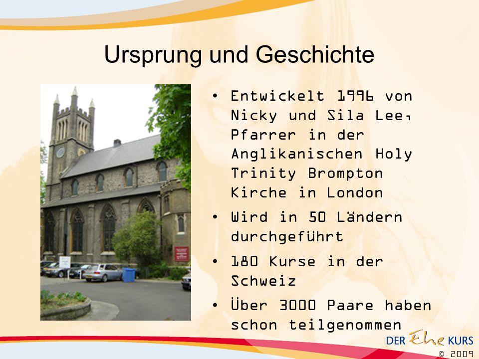 © 2009 Ursprung und Geschichte Entwickelt 1996 von Nicky und Sila Lee, Pfarrer in der Anglikanischen Holy Trinity Brompton Kirche in London Wird in 50