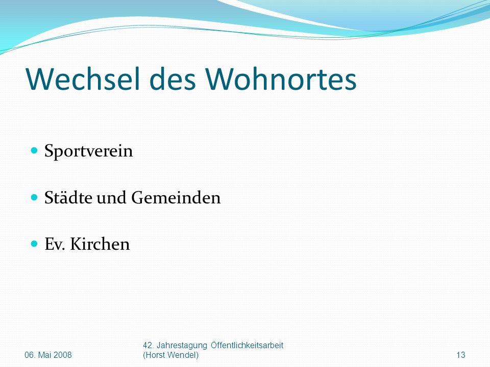 Wechsel des Wohnortes Sportverein Städte und Gemeinden Ev.