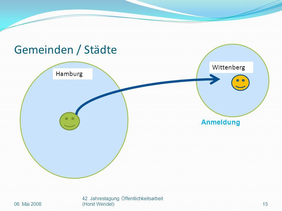 Gemeinden / Städte Hamburg Wittenberg Anmeldung 15 42.