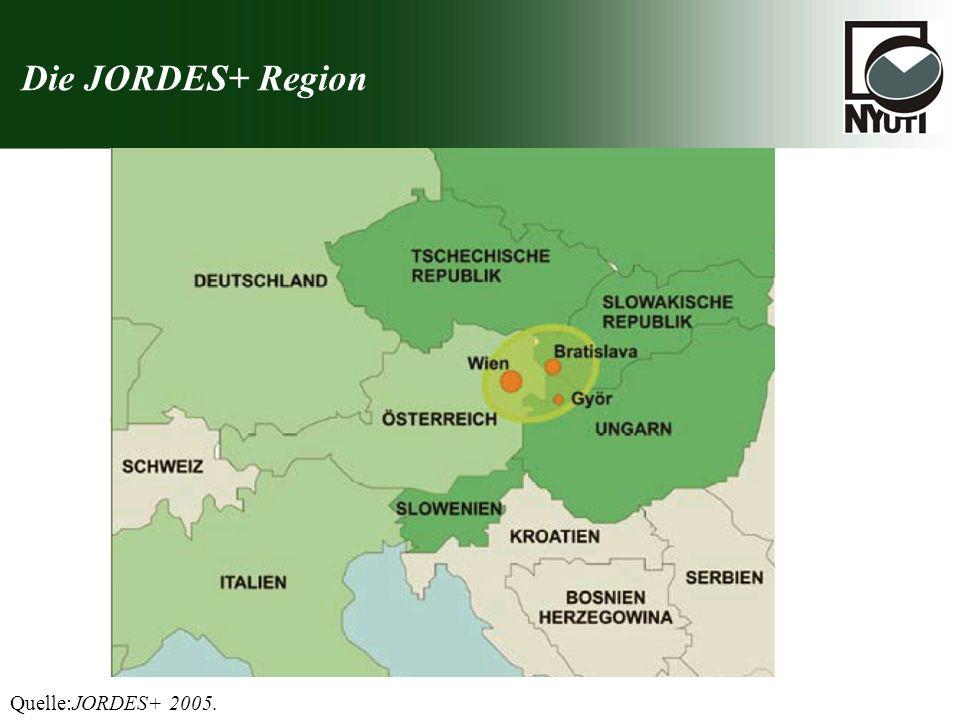 Die JORDES+ Region Quelle:JORDES+ 2005.