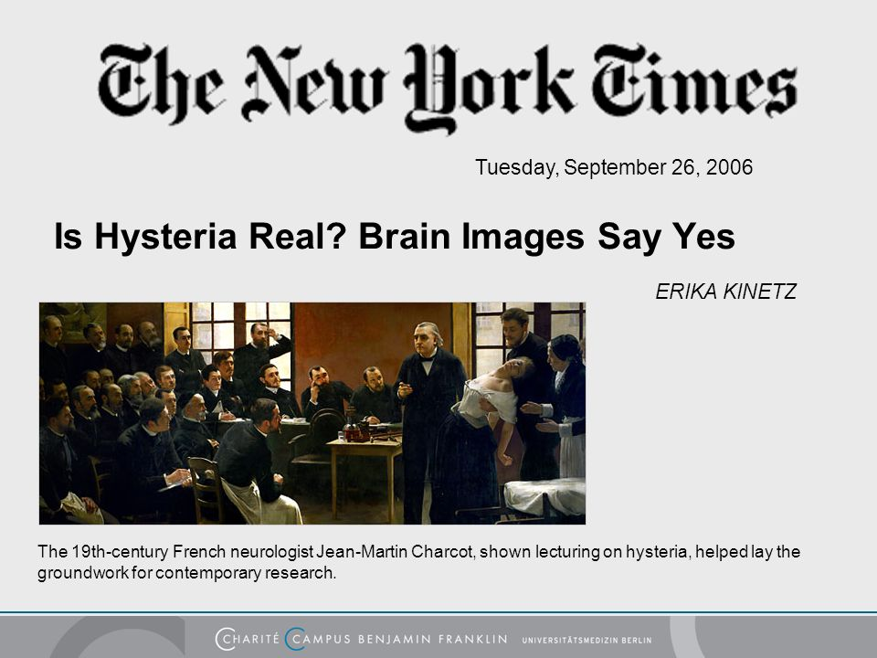 Is Hysteria Real.