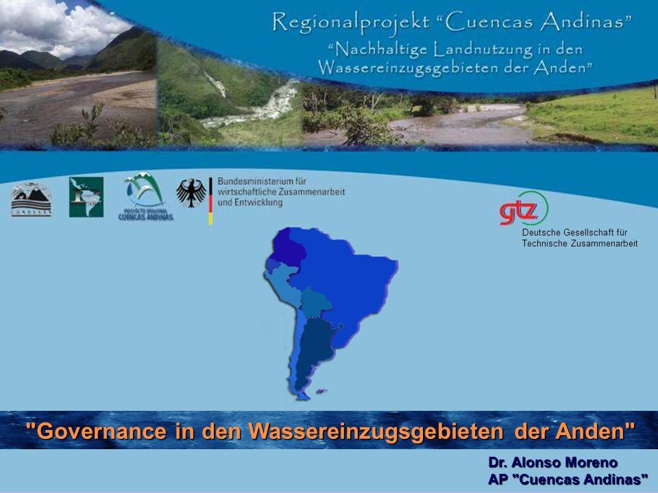 1.1. Ansätze zur Förderung nachhaltiger Entwicklung in den WEG der Anden 2.