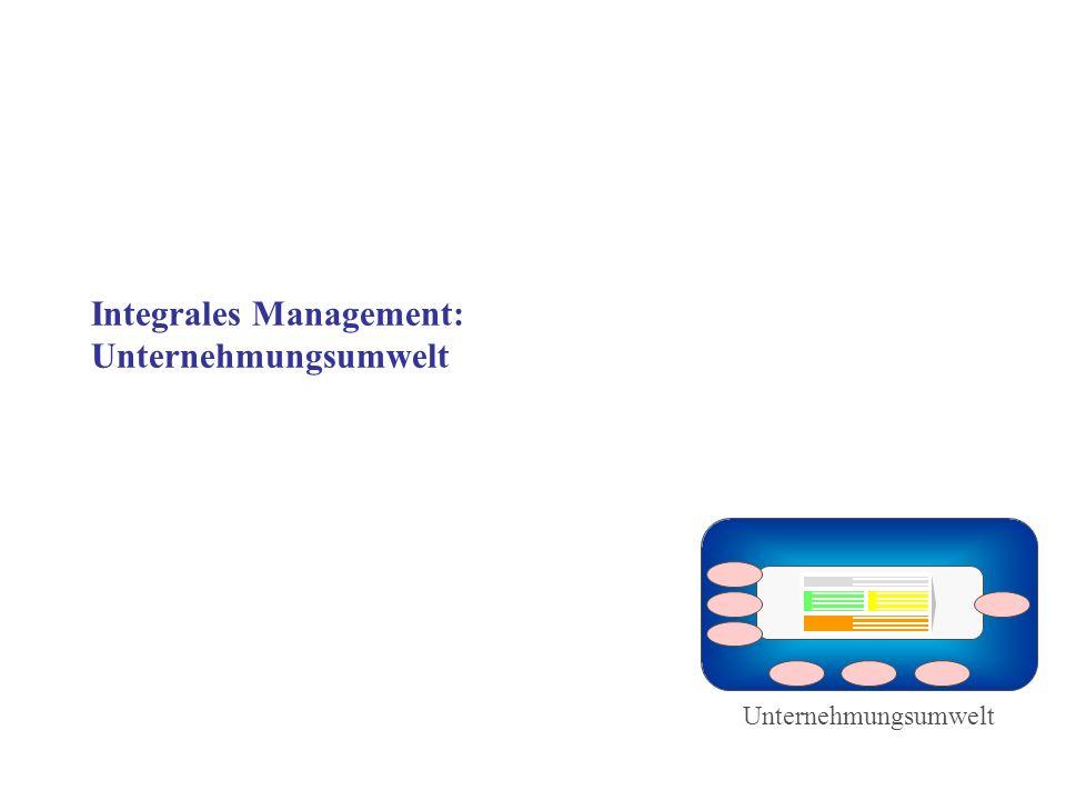 Integrales Management: Unternehmungsumwelt Unternehmungsumwelt