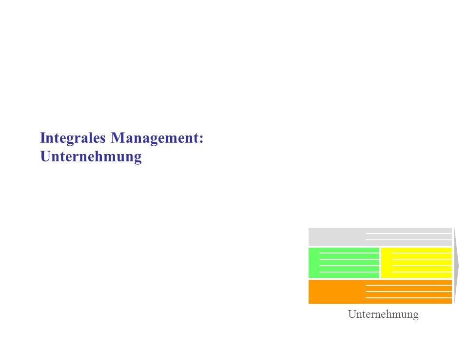Integrales Management: Unternehmung Unternehmung
