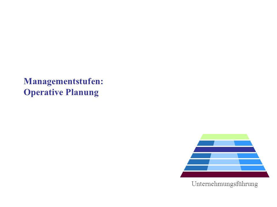 Managementstufen: Operative Planung Unternehmungsführung