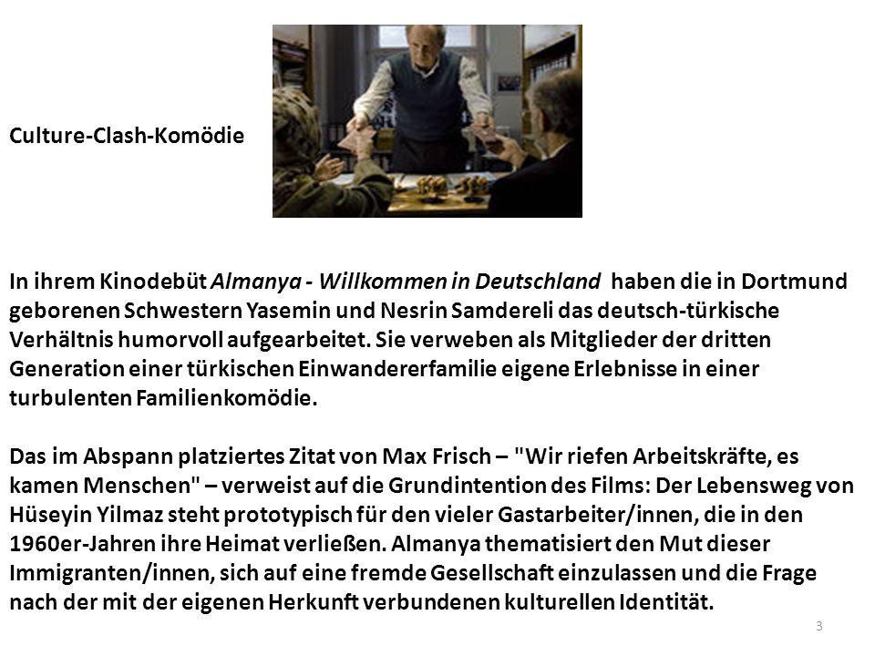 Culture-Clash-Komödie In ihrem Kinodebüt Almanya - Willkommen in Deutschland haben die in Dortmund geborenen Schwestern Yasemin und Nesrin Samdereli das deutsch-türkische Verhältnis humorvoll aufgearbeitet.