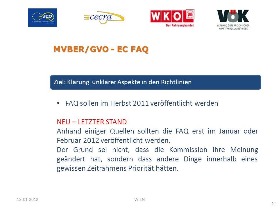 FAQ sollen im Herbst 2011 veröffentlicht werden NEU – LETZTER STAND Anhand einiger Quellen sollten die FAQ erst im Januar oder Februar 2012 veröffentl