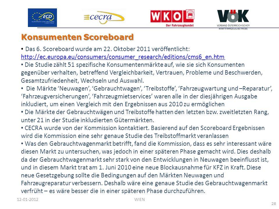 Das 6. Scoreboard wurde am 22. Oktober 2011 veröffentlicht: http://ec.europa.eu/consumers/consumer_research/editions/cms6_en.htm http://ec.europa.eu/c